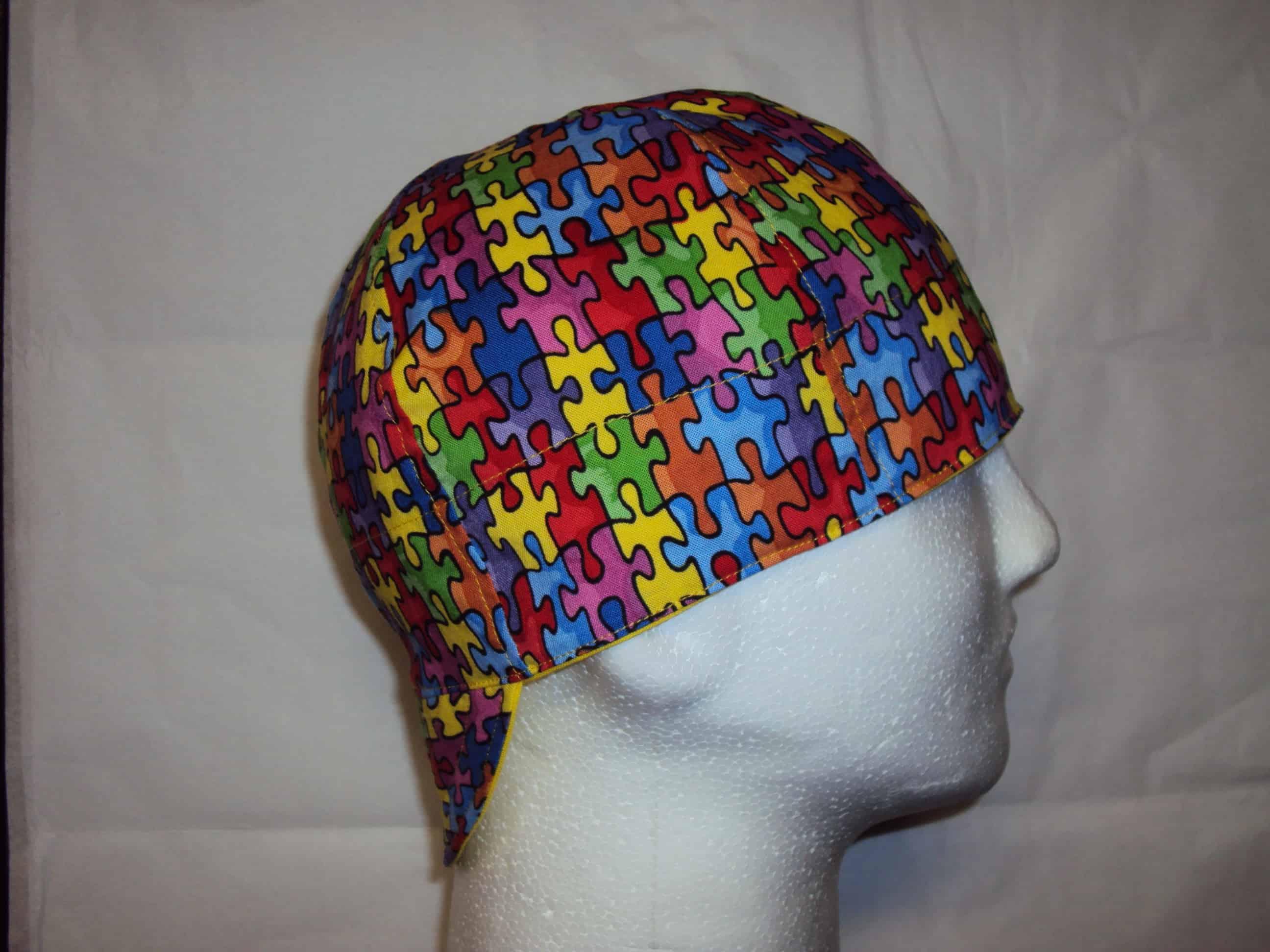 Autism Speaks Puzzle Beanie Welding Caps
