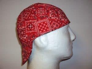 Classic Red Bandana Welding Beanie Cap
