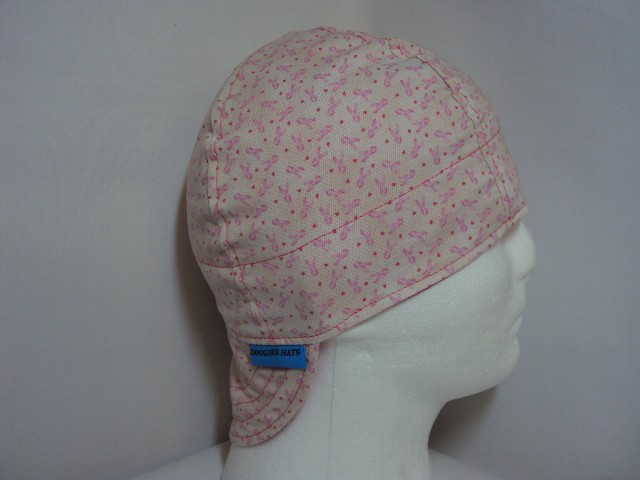 Breast Cancer Awareness Small Print Welders Cap