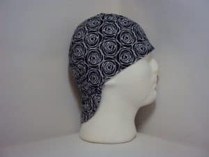 Roses On Navy Welders Cap