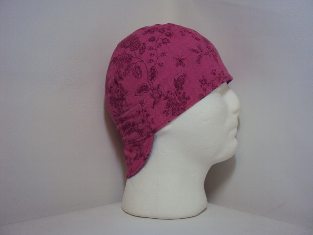 Hot Pink Flowers Welders Hat