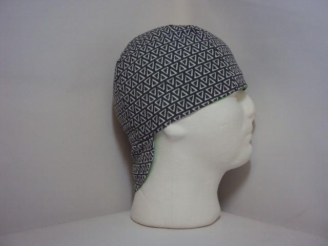 Grey Triangles Welders Hat