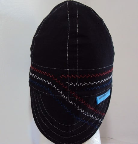 Red White And Blue Custom Stitched #22 Welding Hat
