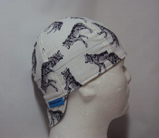 Grey Wolf Welding Cap