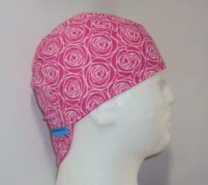 Pink Rosses Welding Cap