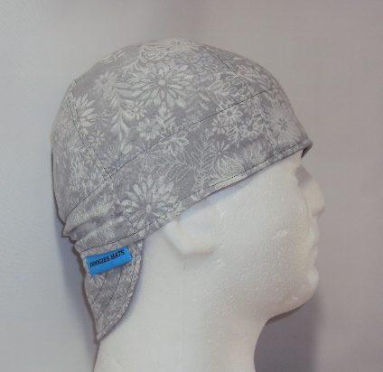 Grey Flowers Welders Hat