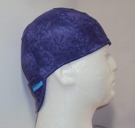 Purple Vines Welding Cap