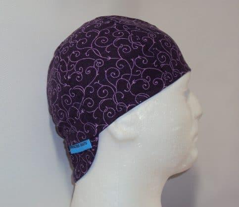 Purple Scrolls Welding Cap