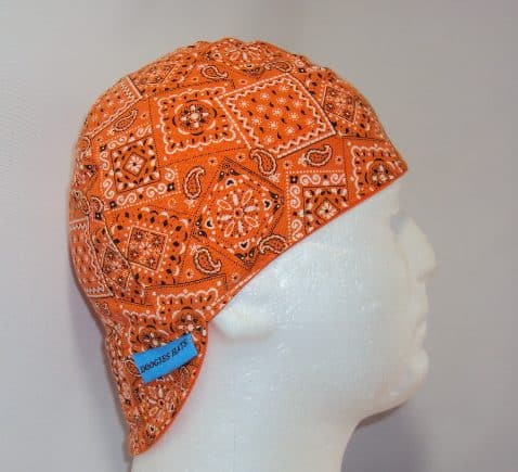 Classic Orange Bandana Welding Beanie Caps