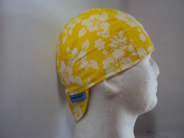 Hibiscus Yellow Welders Cap