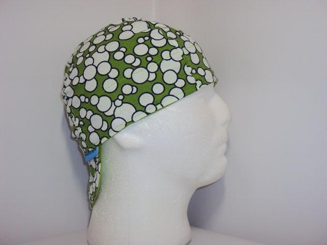 Green Bubbles Welding Hat