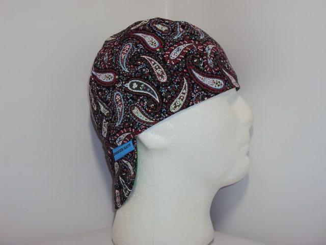Black Perfect Paisley Welding Cap