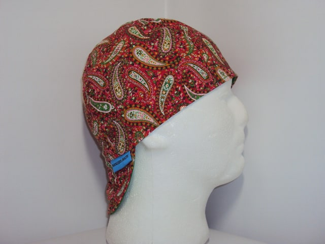 Red Perfect Paisley Welding Cap