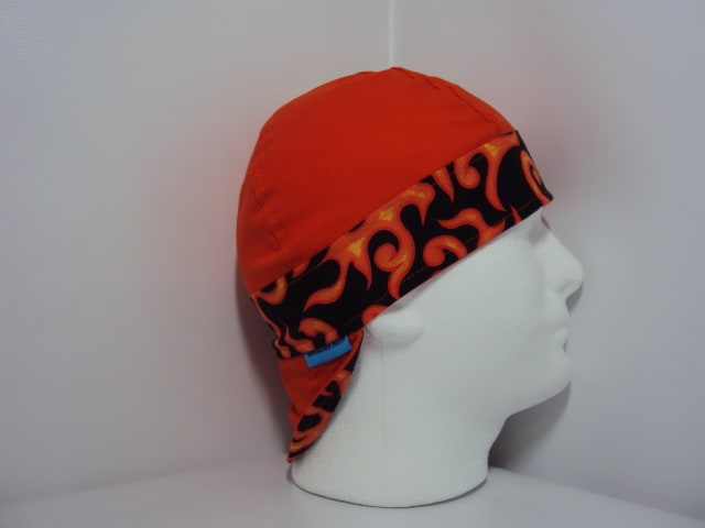 Flame Color Band Welding Hat