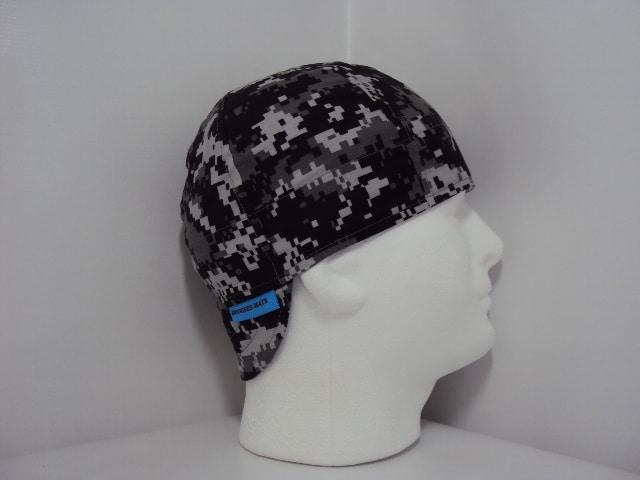 Gray and Black Digital Camo Welders Hat