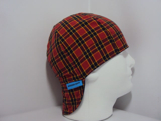 Red Blue Yellow Plaid Welding Hat