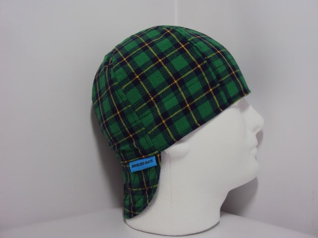 Green Blue And Yellow Plaid Welding Caps