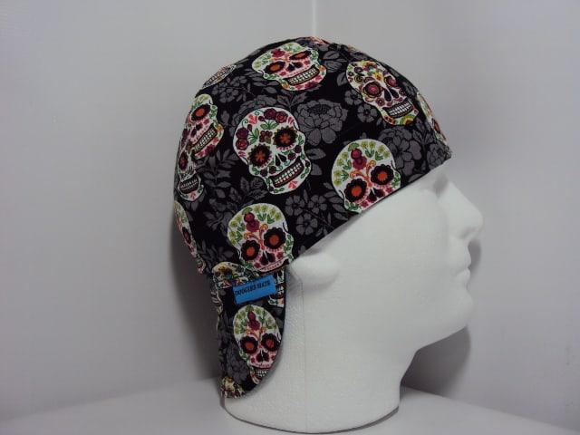 Sugar Skulls With Roses Welders Hat